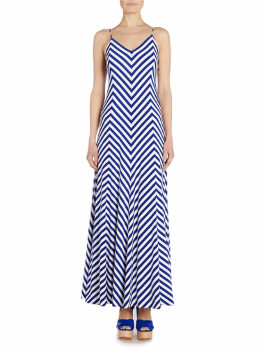Polo Ralph Lauren Maxi Dress In Chevron Stripe