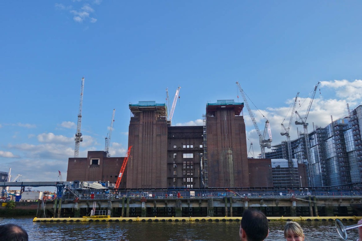 Battersea Power Station without its iconic chimneys, London