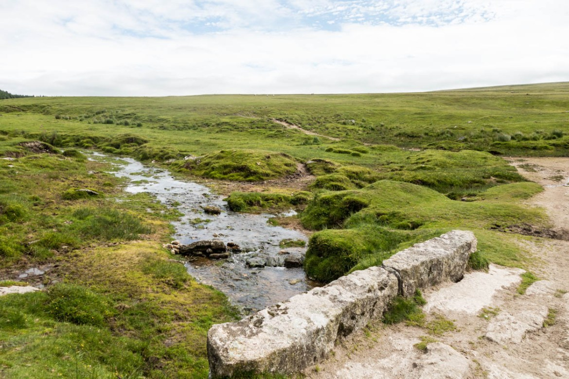 Pretty little stream at the bottom of Rough Tor on Bodmin Moor, Cornwall