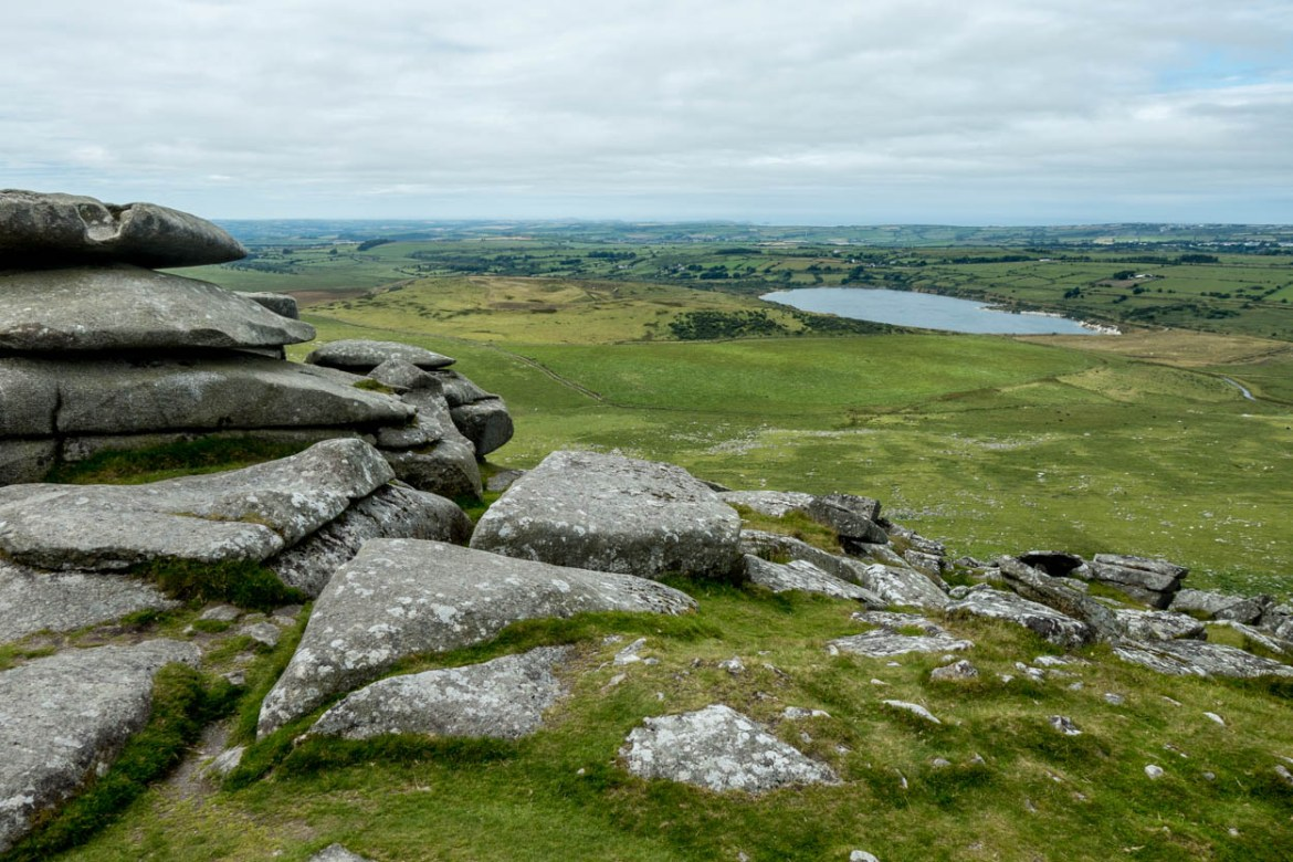 Summit of Rough Tor on Bodmin Moor, Cornwall