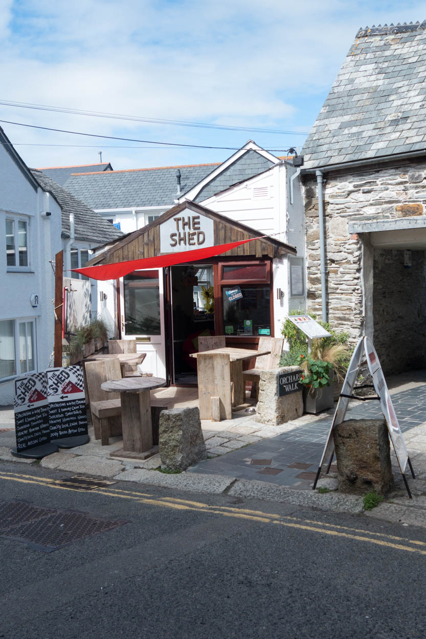 The Shed café in Wadebridge, Cornwall