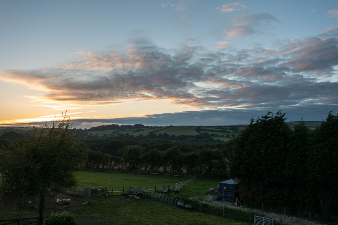 Sunset over Bodmin, Cornwall