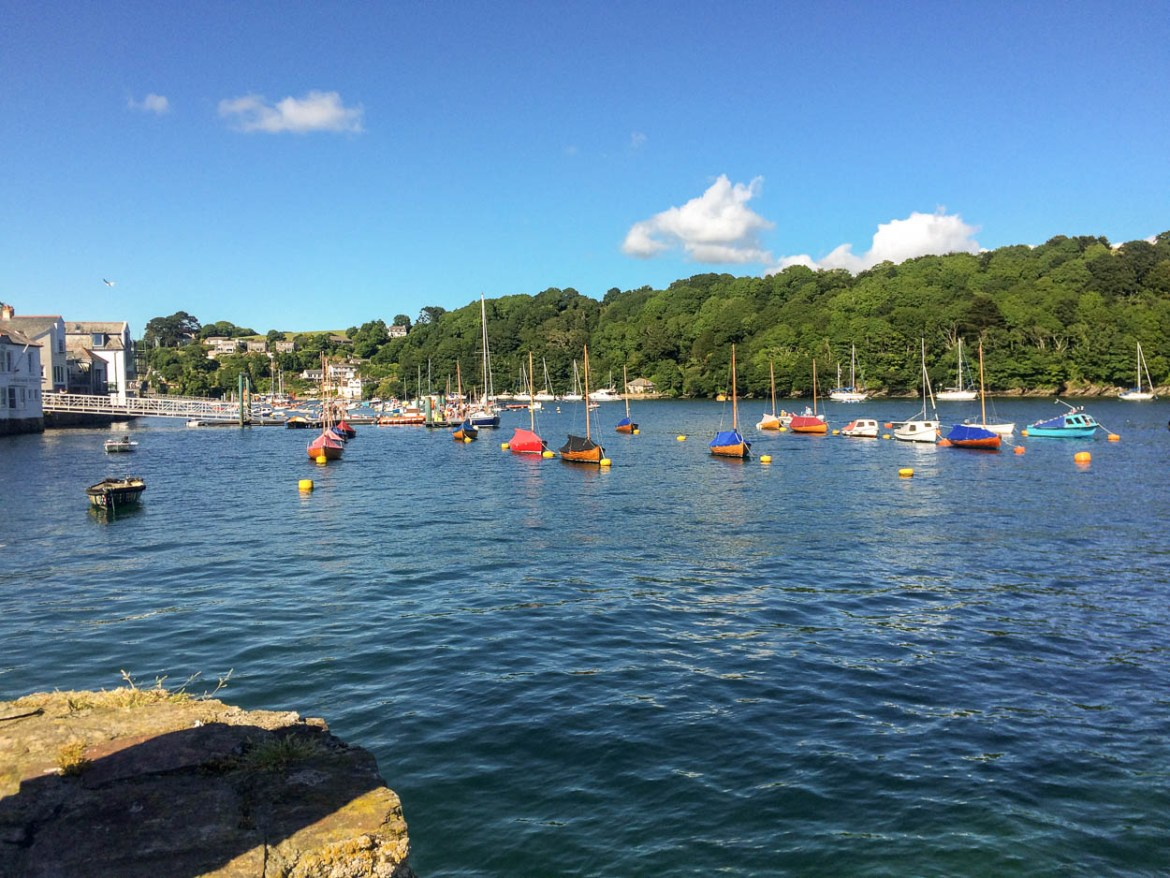 Boats in the harbour at Fowey, Cornwall