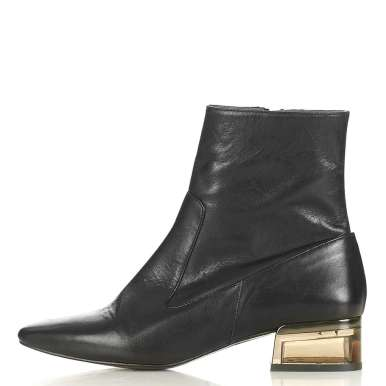 Topshop AUBERGINE Perpsex Heeled Boots