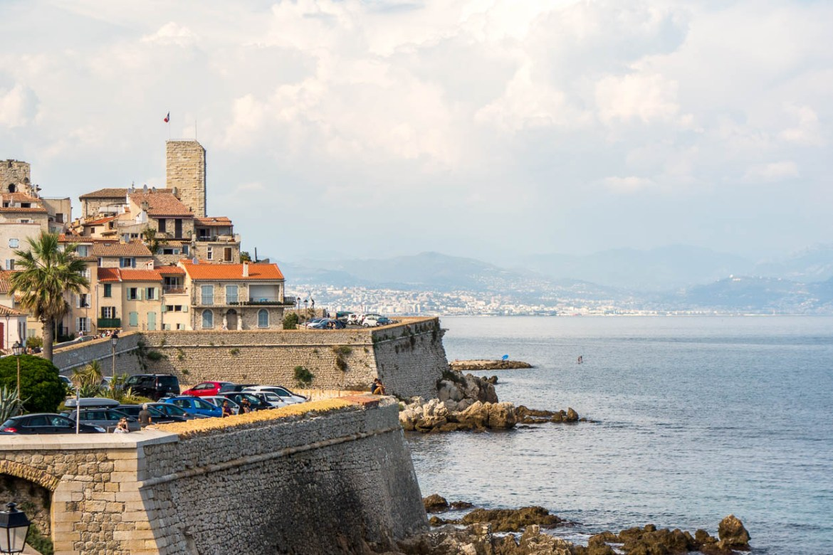 View of old Antibes from the ramparts
