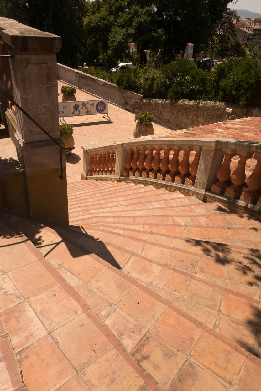 Terracotta steps at Fragonard museum, Grasse