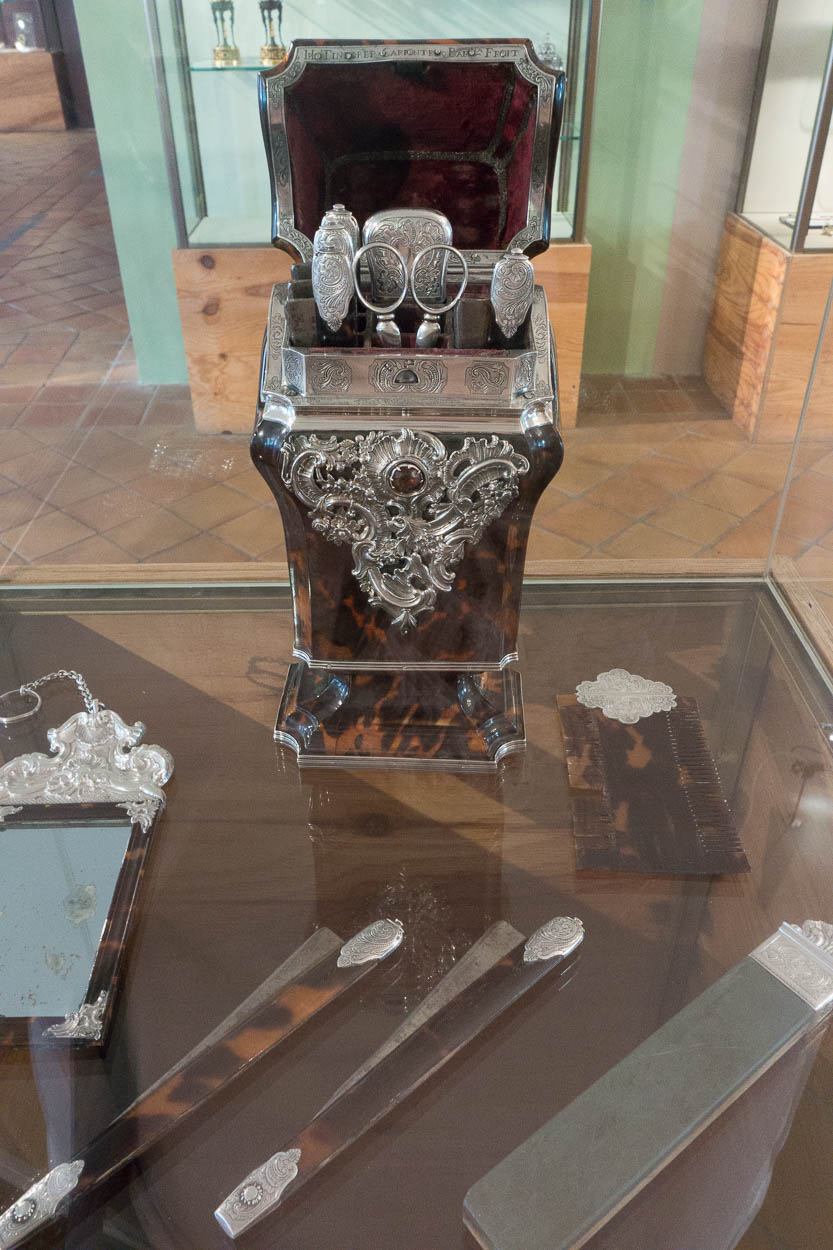 Antique perfume accessories at the Fragonard museum in Grasse