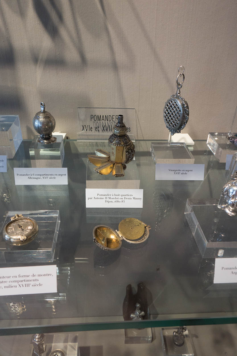 Antique pomanders at the Fragonard museum in Grasse