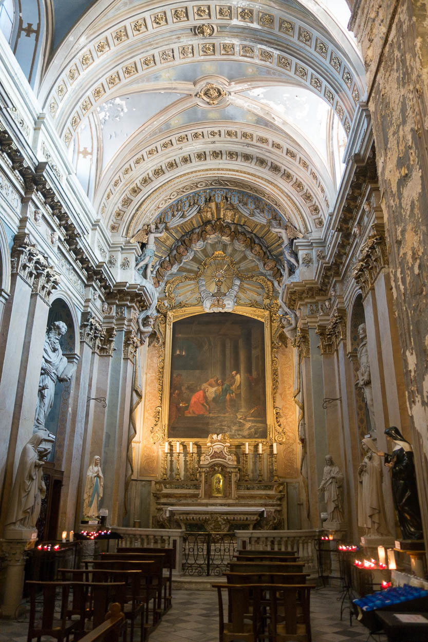 Inside Grasse Cathedral