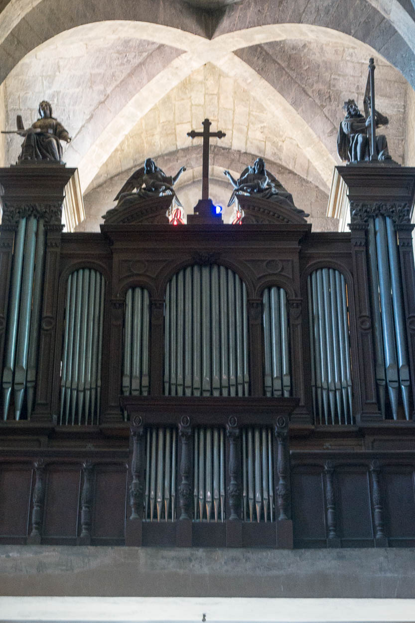 Organ inside Grasse Cathedral