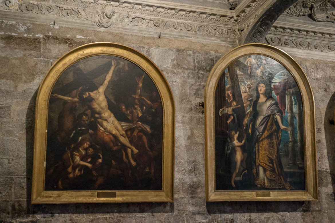 Paintings by Peter Paul Rubens in the cathedral at Grasse