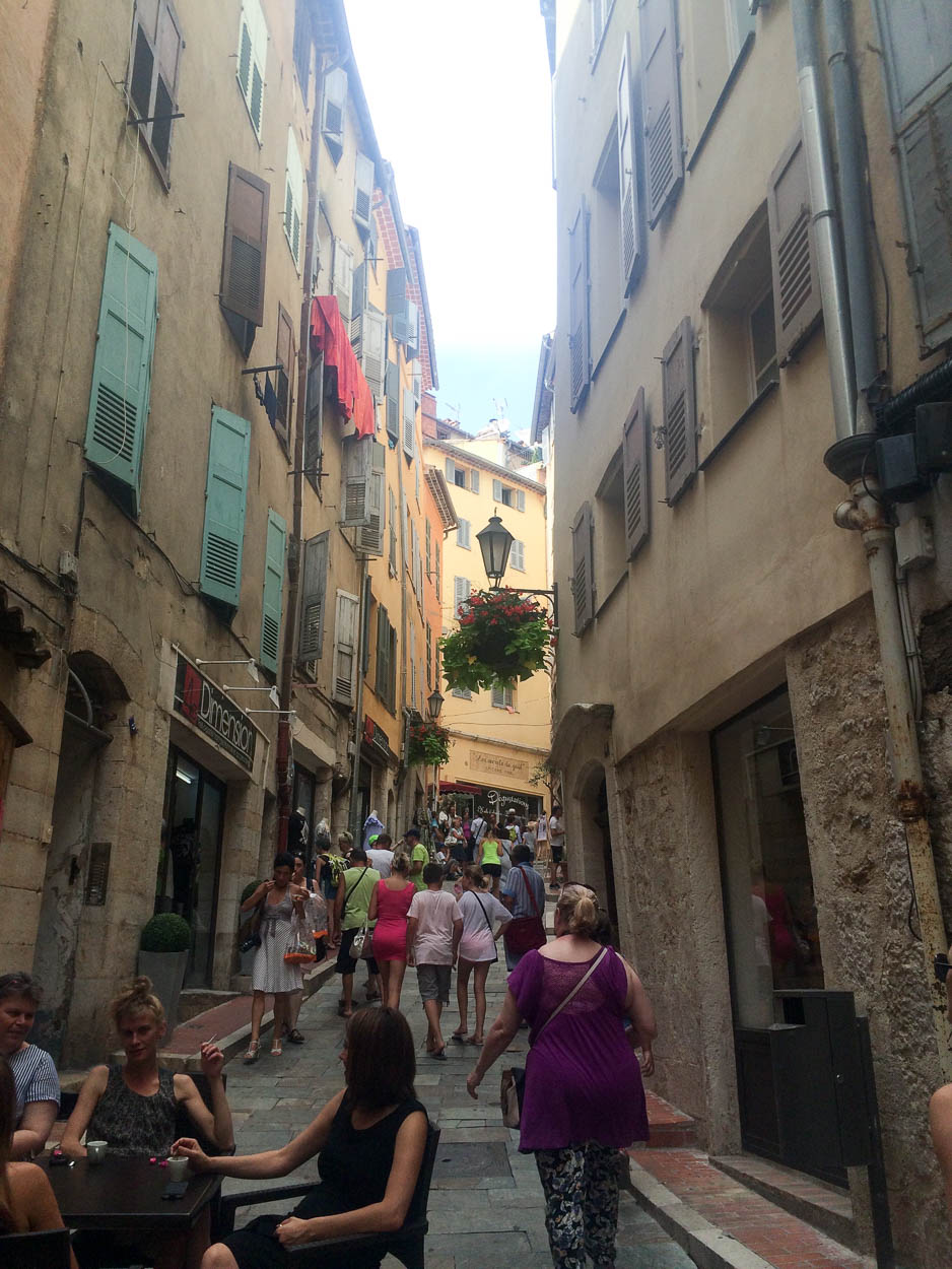 Narrow streets in Grasse