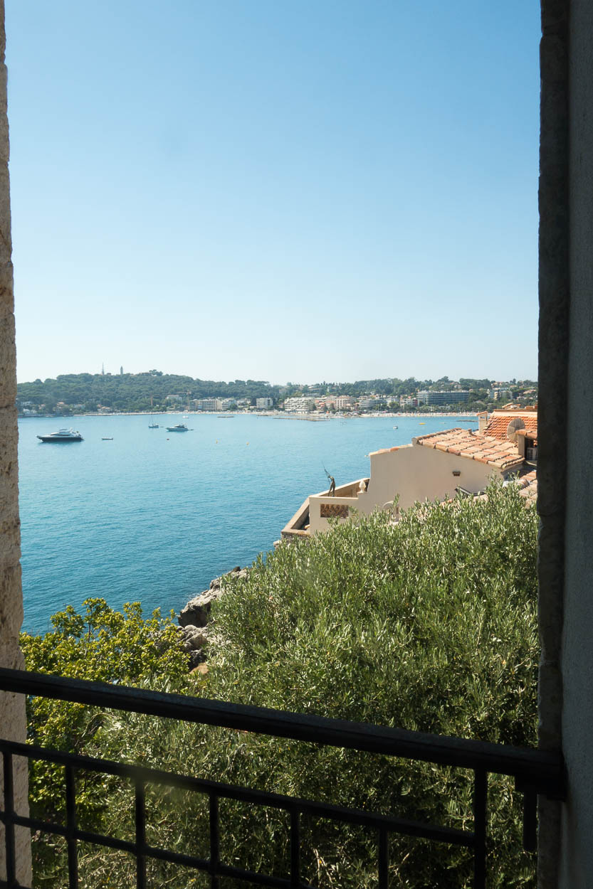 View across to Cap d'Antibes from the Musée Picasso
