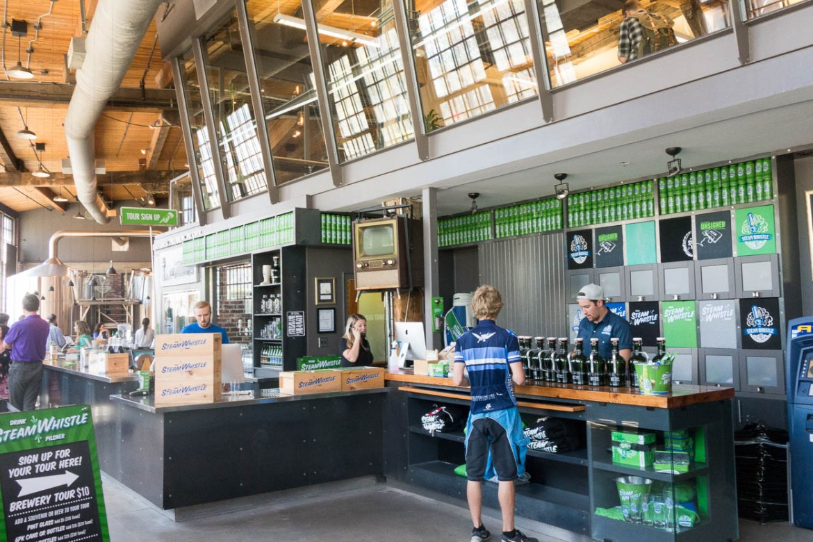Inside the Steam Whistle Brewery, Toronto