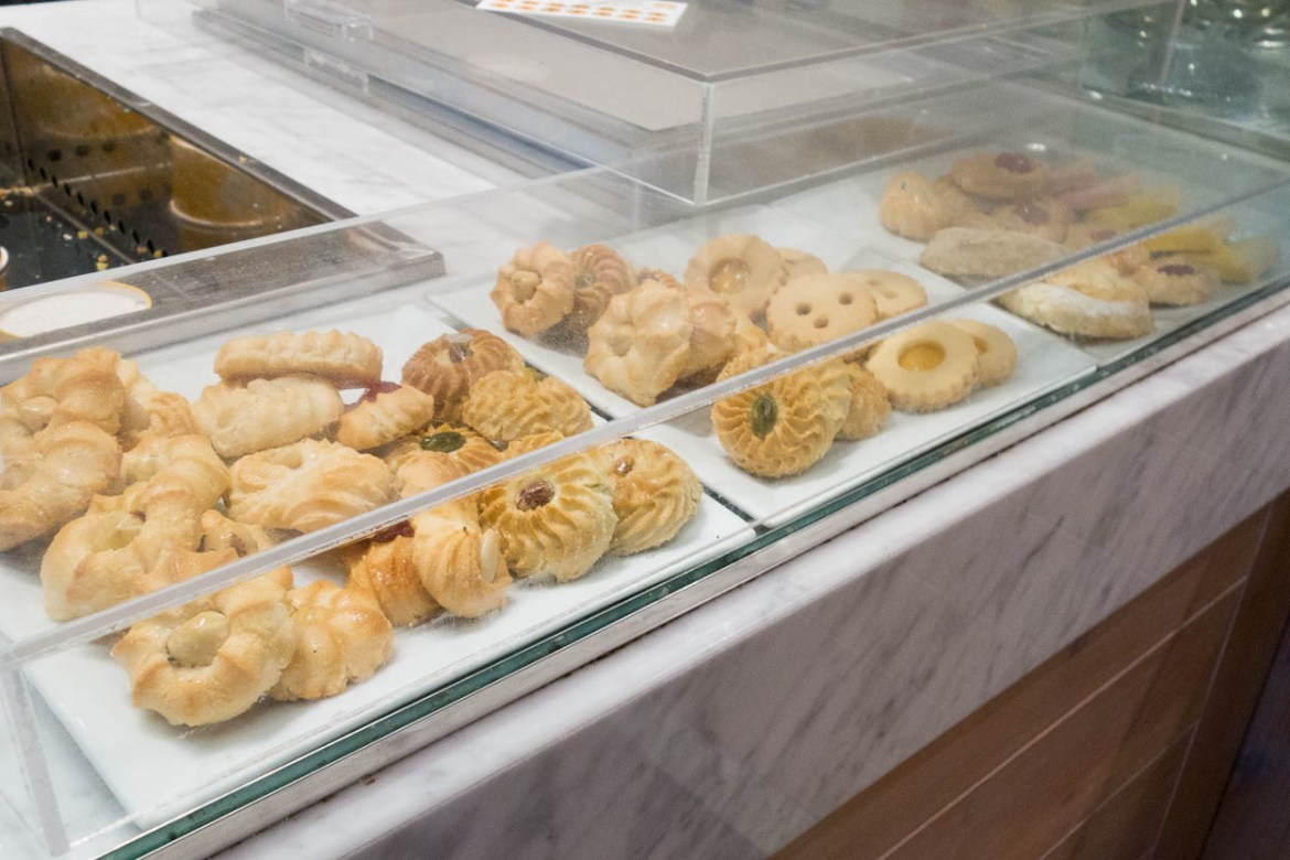 Biscuits and pastries at a gelateria in Niagara-on-the-Lake
