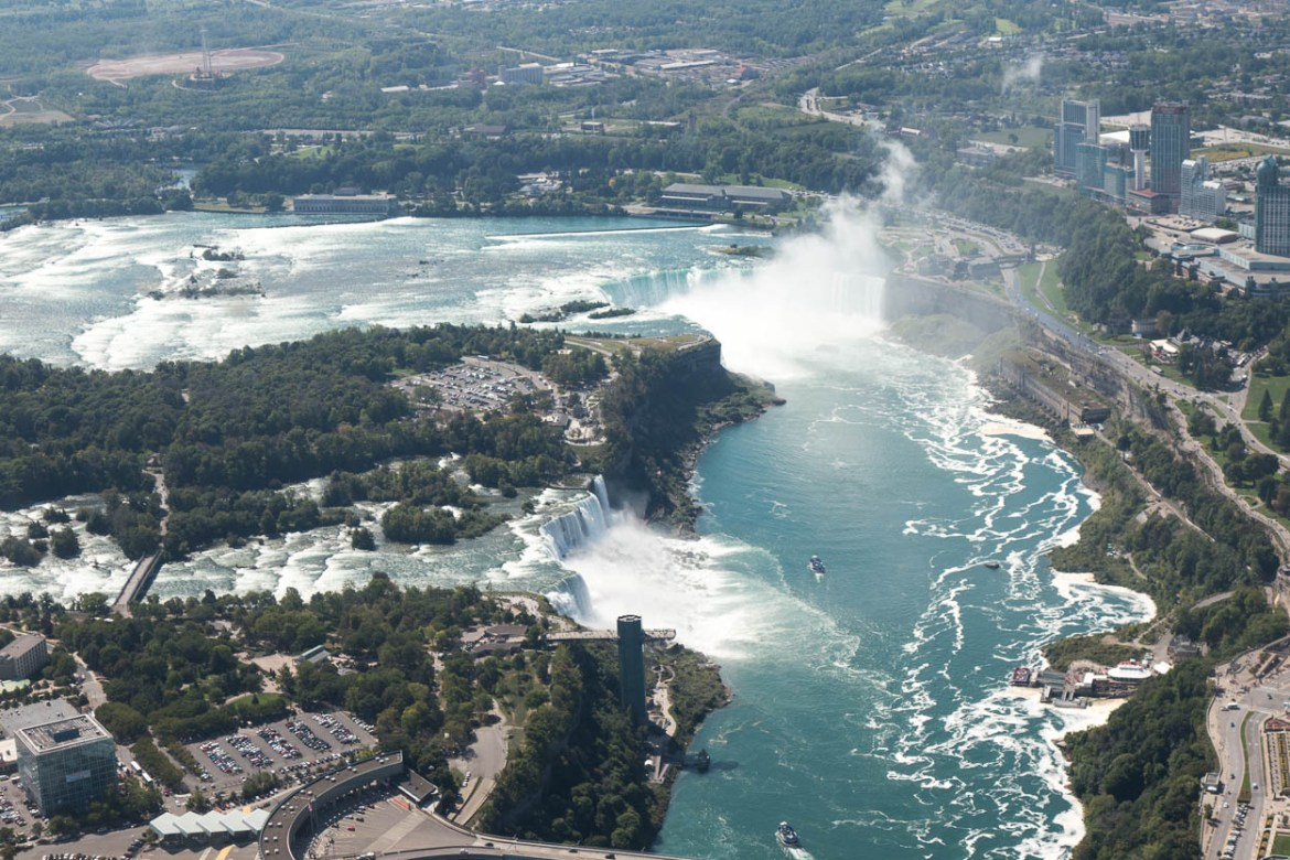 Niagara Falls seen from the helicopter