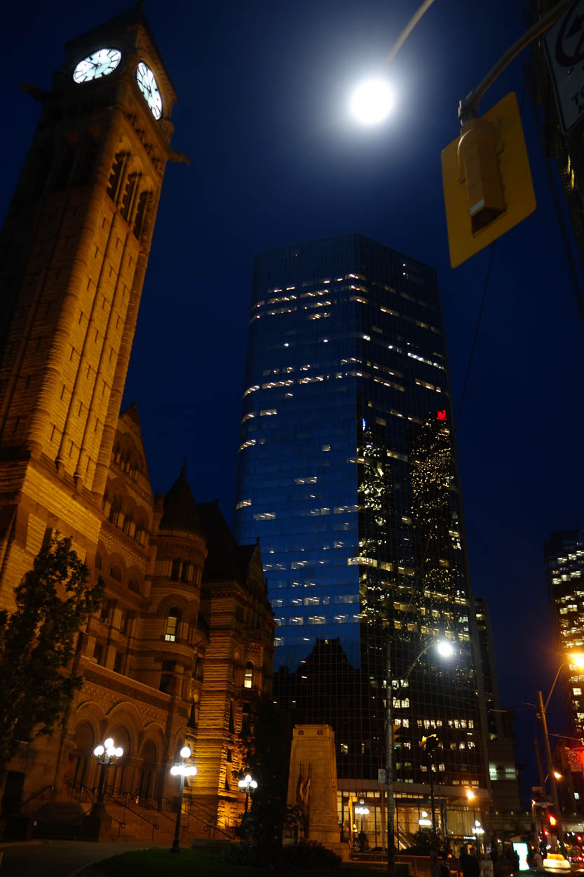 Downtown Toronto at night