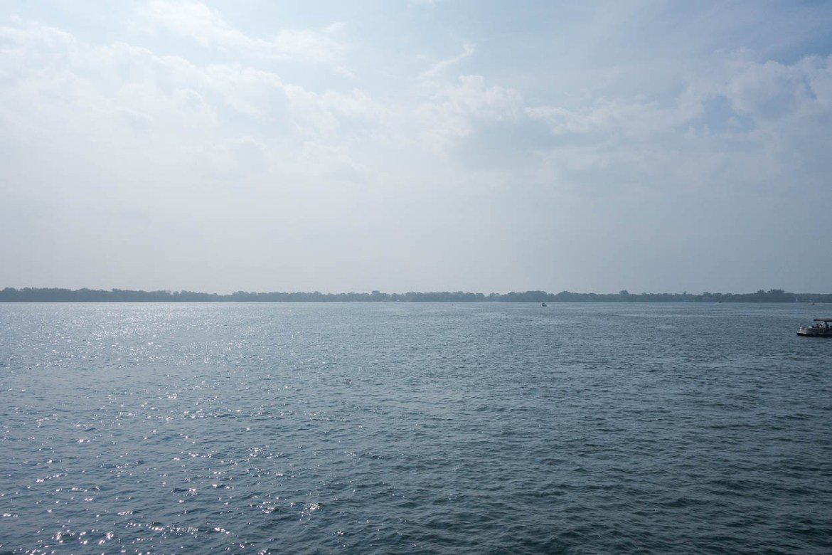 View of the Toronto Islands from the ferry
