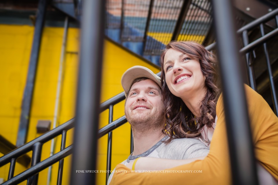 Nvette + Vic | Downtown La Crosse Engagement Session | Main Street