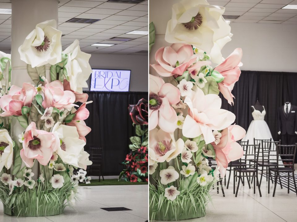 Pink and Black with Stripes Wedding Theme | La Crosse Bridal Expo 2018 | Photography by Pink Spruce Photography, Wedding Photographer La Crosse WI