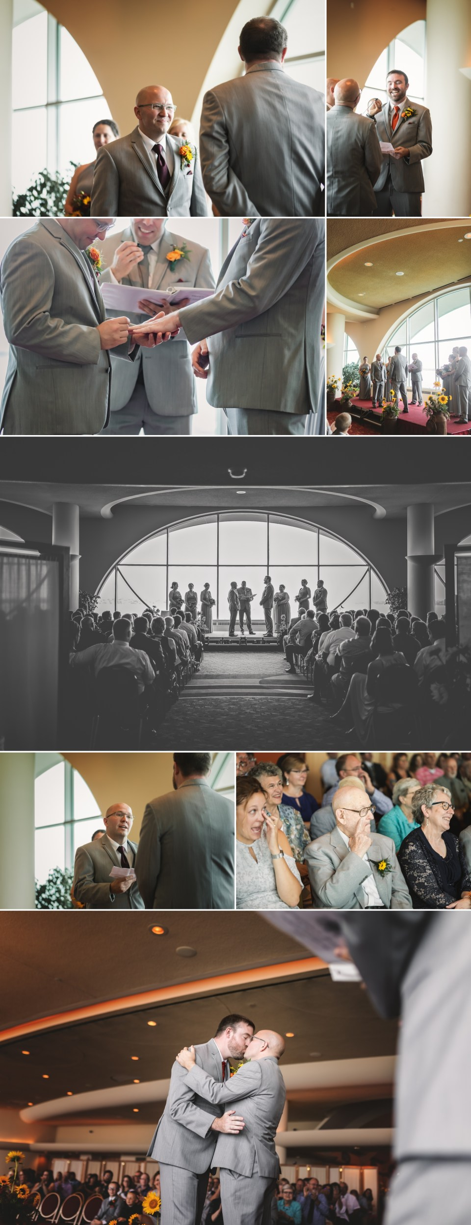 Wedding Ceremony at The Monona Terrace in Madison, WI | Pink Spruce Photography | www.pinksprucephotography.com