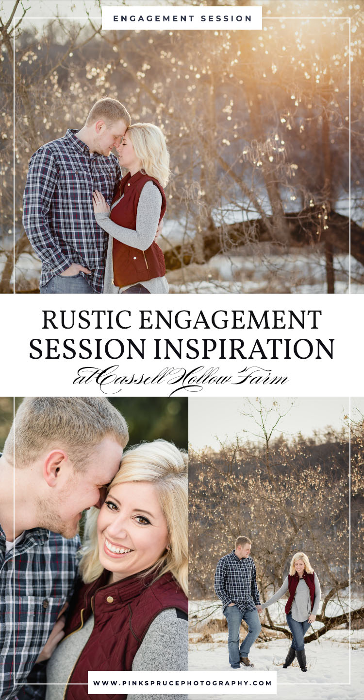 Rustic Engagement Session at Cassell Hollow Farm · Katie + Trent