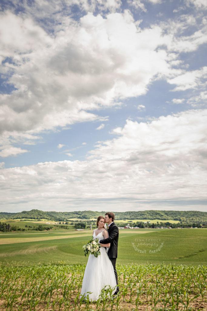 Rustic Farm Wedding at The Waumandee House | Dori + Logan | Pink Spruce Photography
