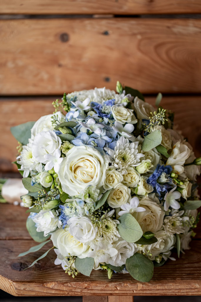 Monet Floral Wedding Bouquet | Wedding at Cedar Creek Country Club | Kara + David | Onalaska Wisconsin Wedding Photographer