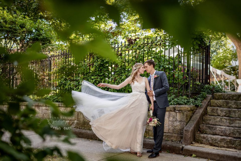 Bride and Groom Potraits after the Wedding at The Livingston Inn | Madison, Wisconsin Wedding Photographer