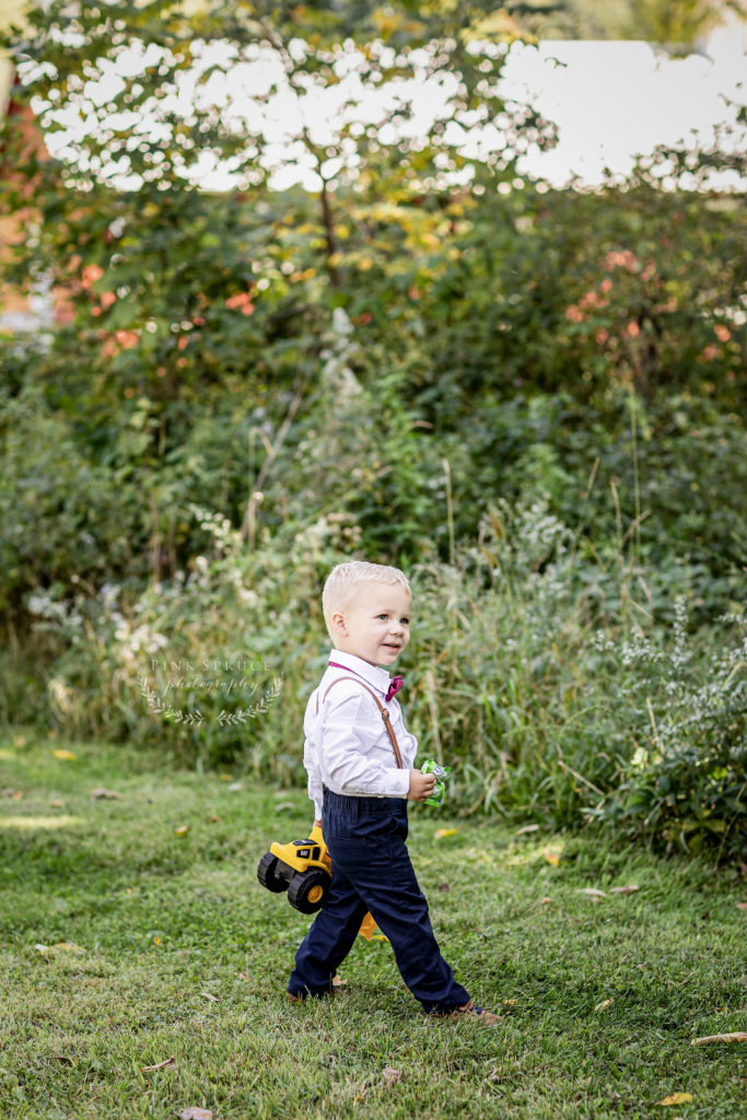 Ring Bearer at a Winnebago Springs Wedding · McKennah + Jacob | Minnesota Wedding Photographer
