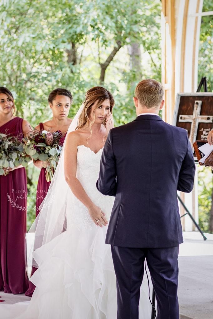 Wedding Ceremony at Winnebago Springs · McKennah + Jacob   Caledonia MN Wedding Photographer