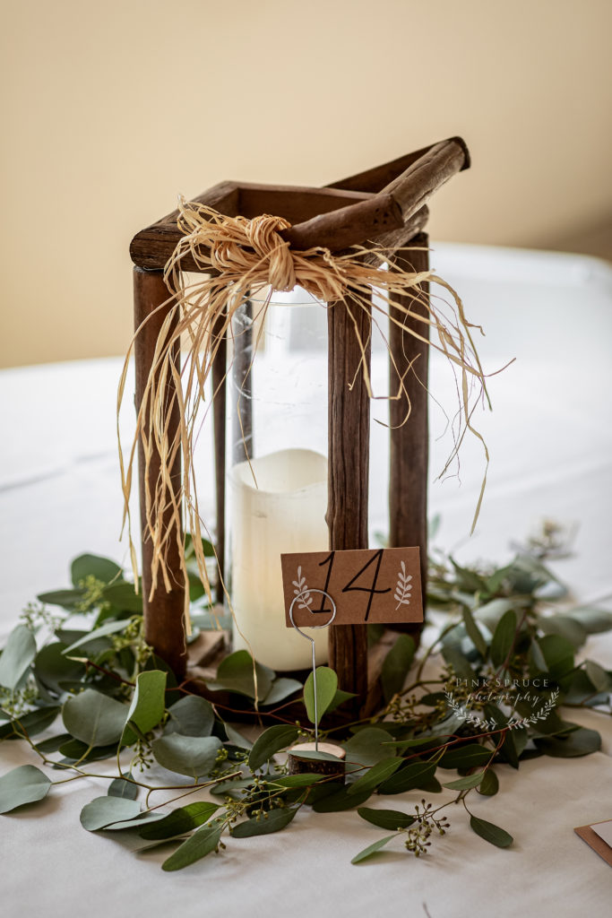 Wedding Centerpiece at Winnebago Springs · McKennah + Jacob | Caledonia MN Wedding Photographer