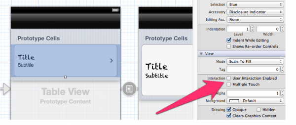 How to disable cell interaciton in UITableView | iOS Dev Diary