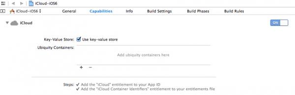 using iCloud in Xcode 5