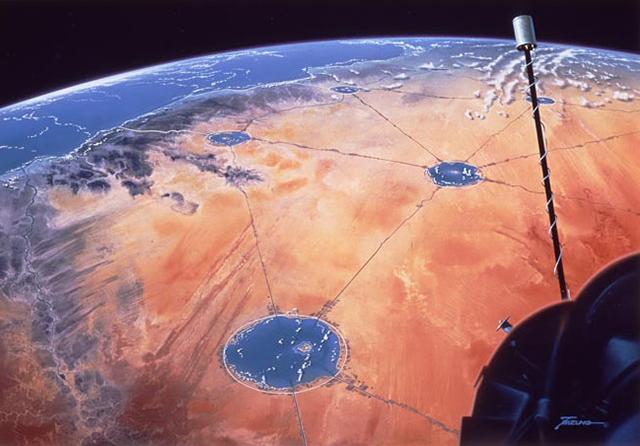 Desert Aqua-Net Plan by Shimizu Corporation --