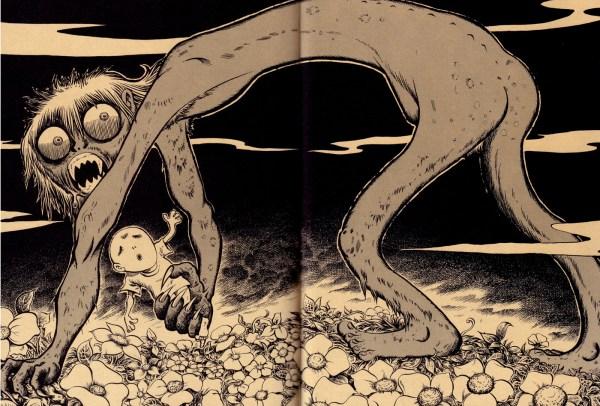 Gothic Horror Illustrations Tatsuya Morino Pink Tentacle