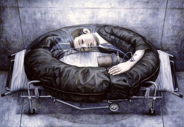 Surrealistic paintings by Tetsuya Ishida  Pink Tentacle
