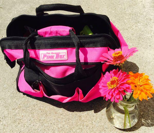 pink tool bag