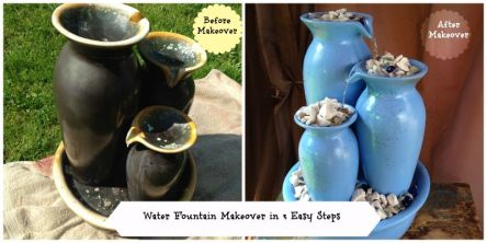 water fountain makeover in 3 easy steps