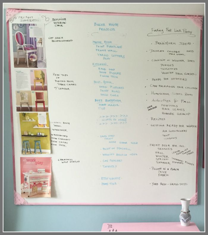 dry erase board with Rustoleum Paint