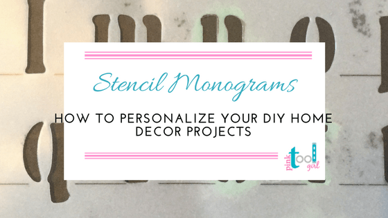 How to stencil a monogram in 5 easy steps