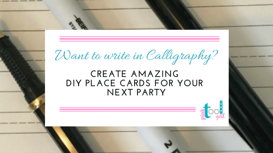2 Ways to write in Calligraphy