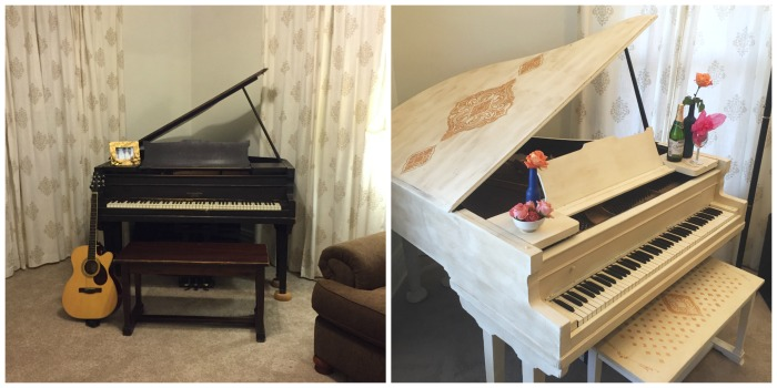 french inspired piano before and after