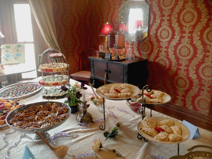 DIY tea party in a historic house