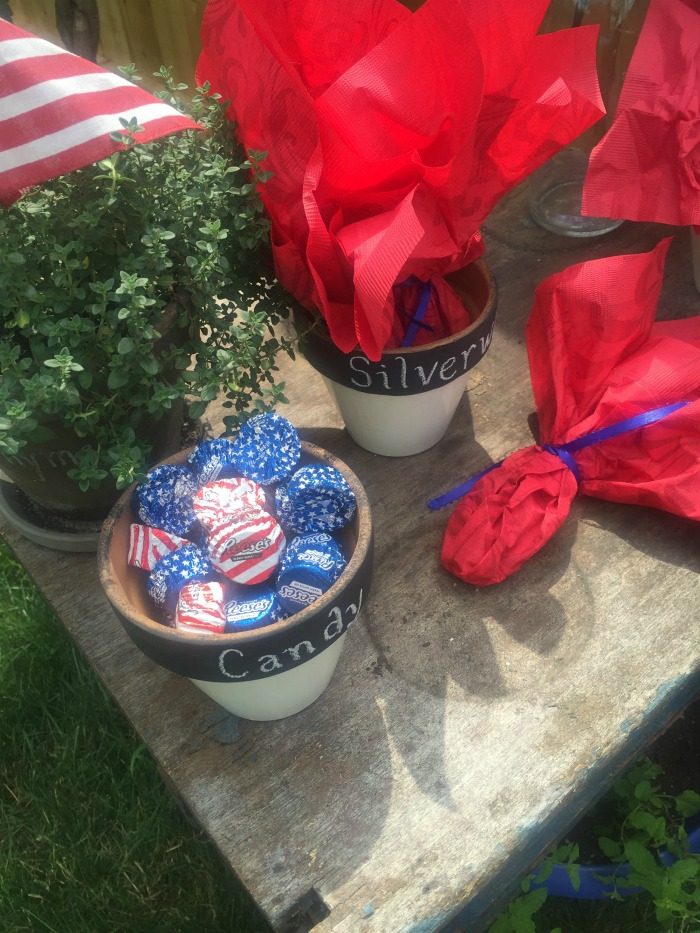 4th of July Diy projects painted pots