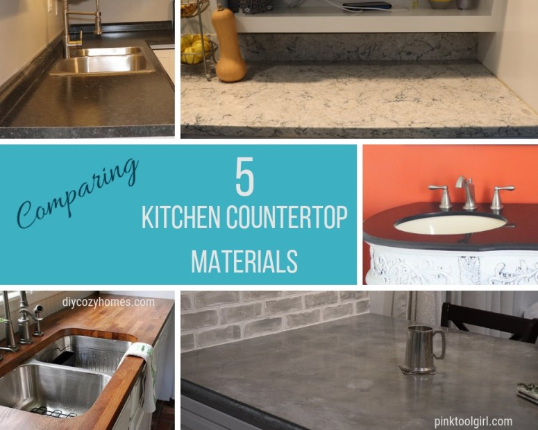 comparing 5 kitchen countertops