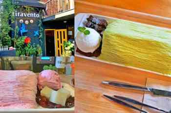 【韓旅】「雪如髮」呀~ 到梨泰院的Cafe Tiravento用刀叉享用冰品,享受前所未有的口感。