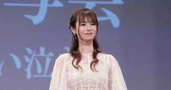 深田恭子相隔4個月首次登場於公開場合,為劇場版「魯邦的女兒」宣傳。