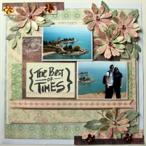 The best of times scrapbook layout