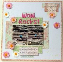 wow rocks! scrapbook layout